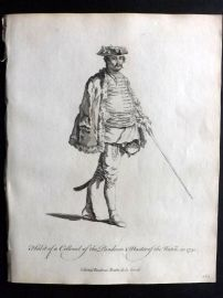 Jefferys C1760 Print. Collonel of the Pandours & Master of the Watch. Austria